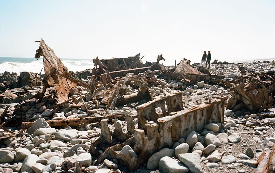 Shipwrecks along the coast