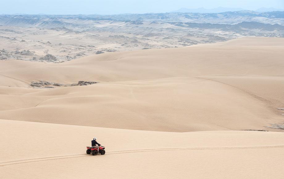 Quad Biking on the sand dunes
