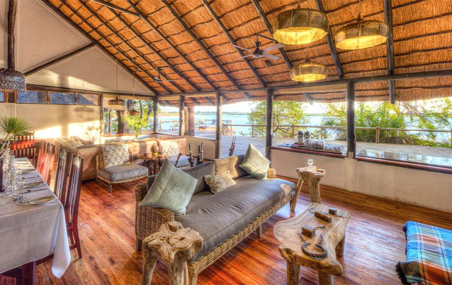 Xugana Island Lodge Lounge Area