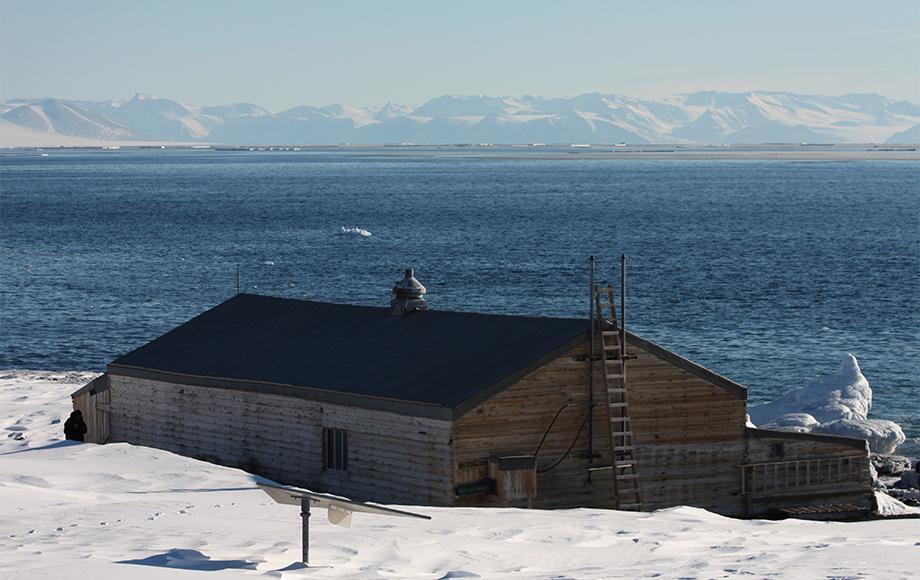 Scotts Hut in Antarctica