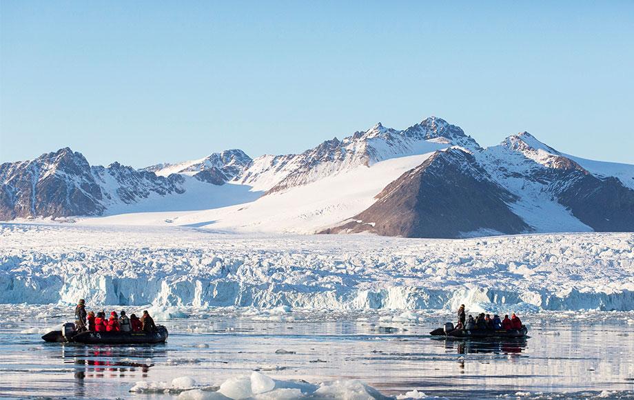 Zodiacs in Svalbard