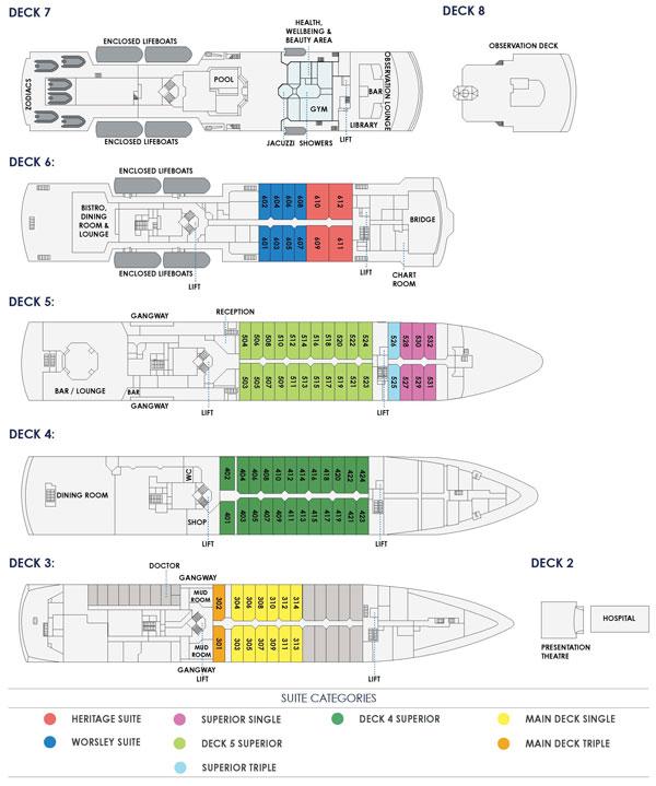 Heritage Adventurer Deck Plan
