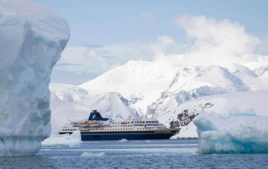 Heritage Adventurer in Antarctica