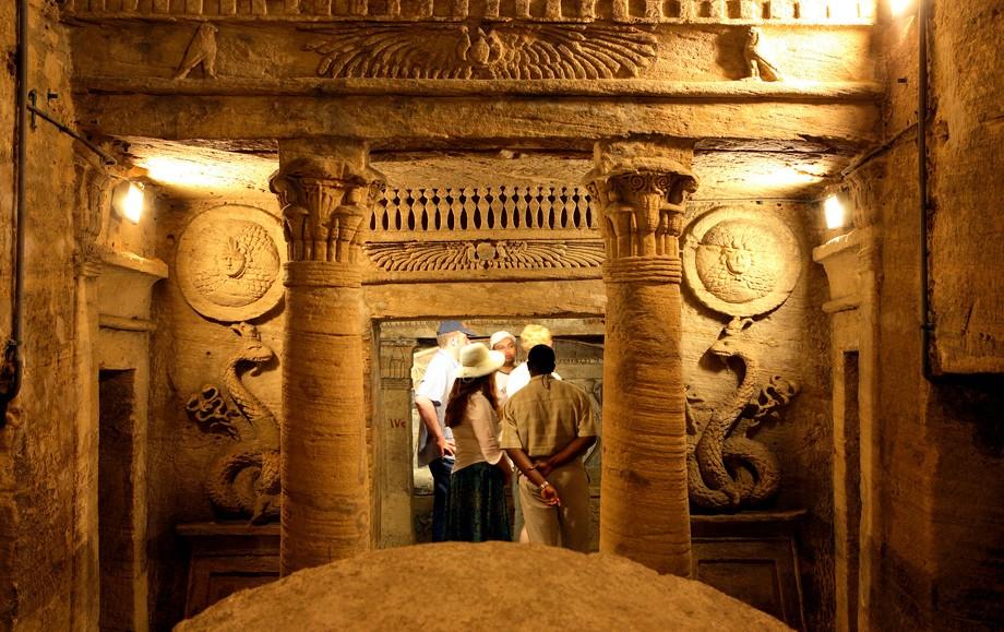 The Kom El Shoqafa Catacombs in Alexandria Egypt