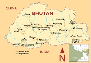 Bhutan tours map