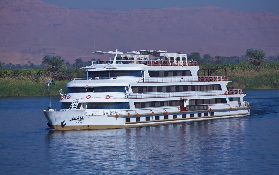 The Sanctuary Adventurer cruising down the River Nile