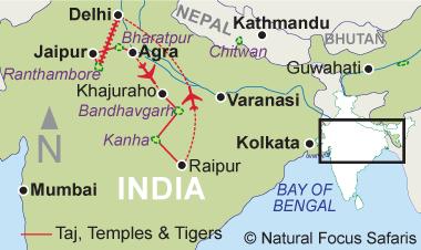 Nepal Map - Natural Focus Safaris