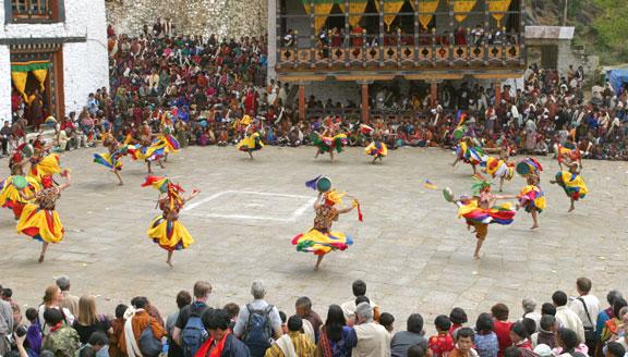 Bhutan festival atmosphere