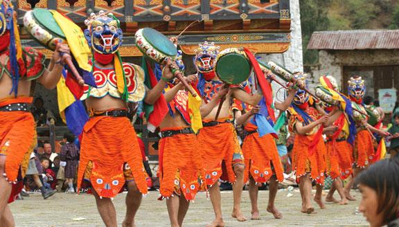 Bhutan festival chants
