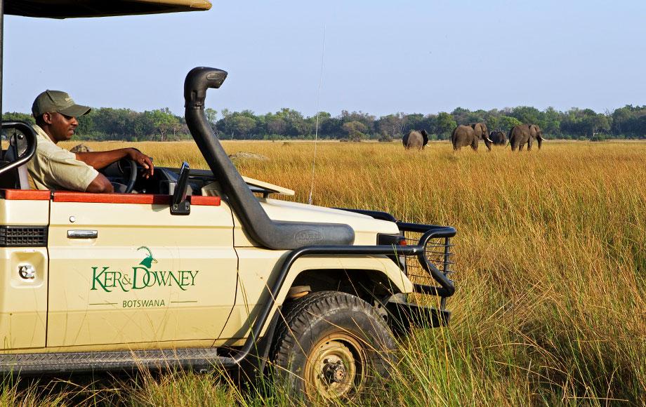 Ker and Downey Safari vehicle in Botswana