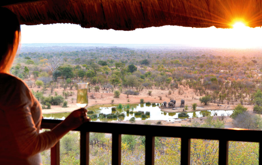 View from lodge in Botswana