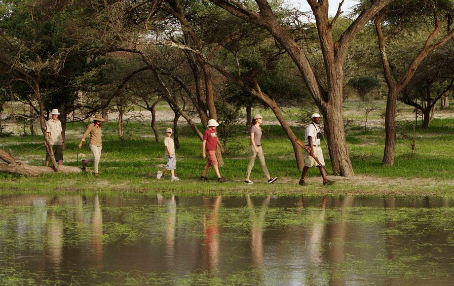 walking safari in Botswana