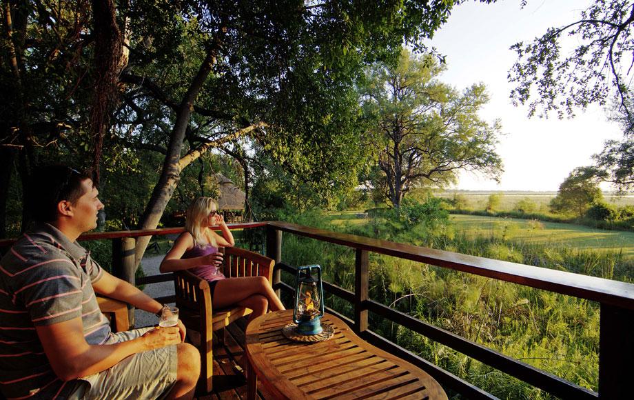 Camp Moremi outdoor deck