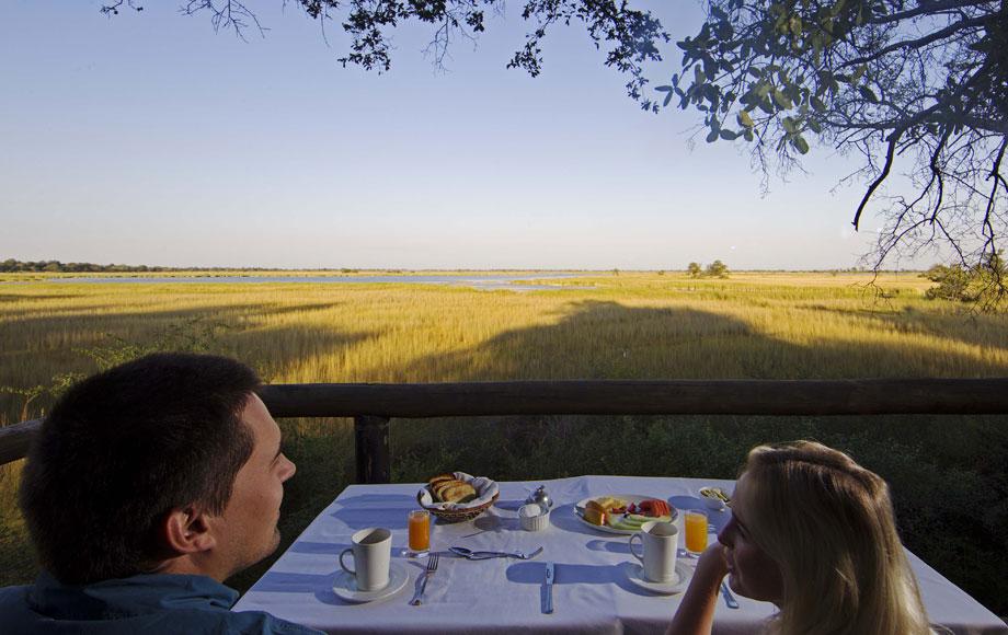 Breakfast at Camp Moremi in Botswana
