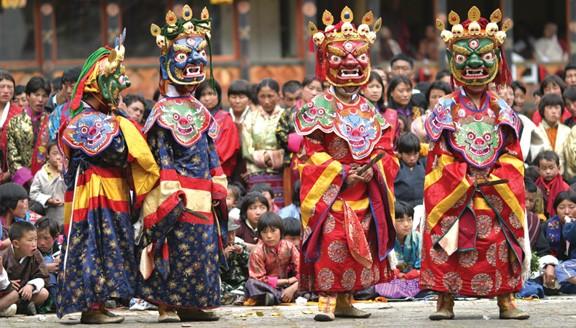 Tsechus festival in Bhutan