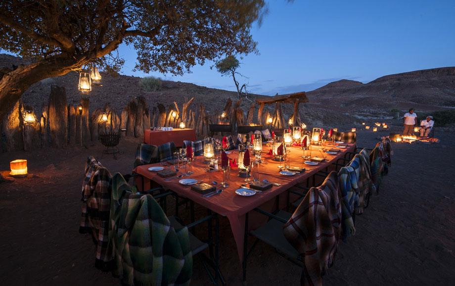 Damaraland Camp Dining Outside