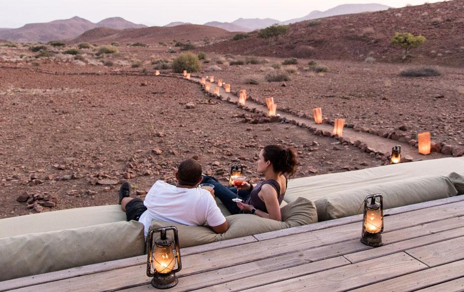 Damaraland Camp at the Huab River Valley.