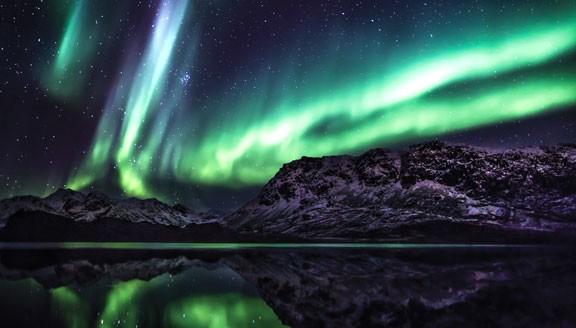 East Greenland Northern Lights