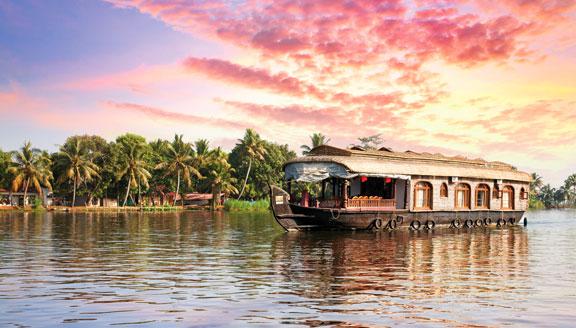 South India and Kerala backwater cruises