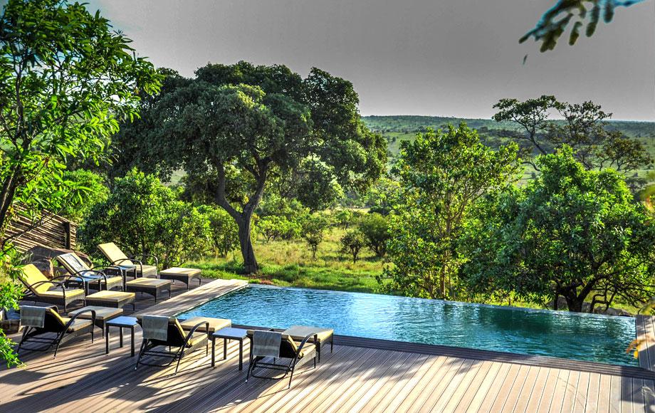 Outdoor pool at Luxury Lemala Kuria Hills in Tanzania
