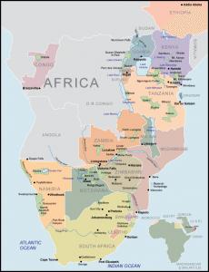 Africa Map - African Wildlife Safaris