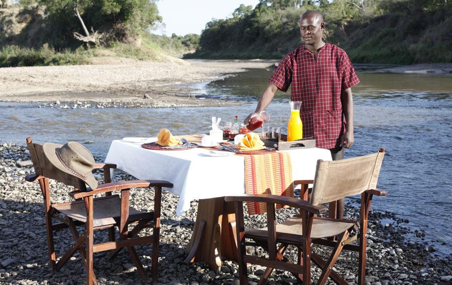 Dining at Mara Ngenche Private Camp