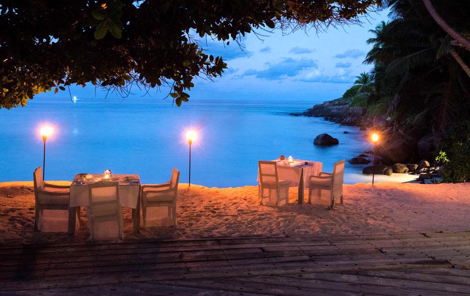 Sunset Dining at North Island Seychelles
