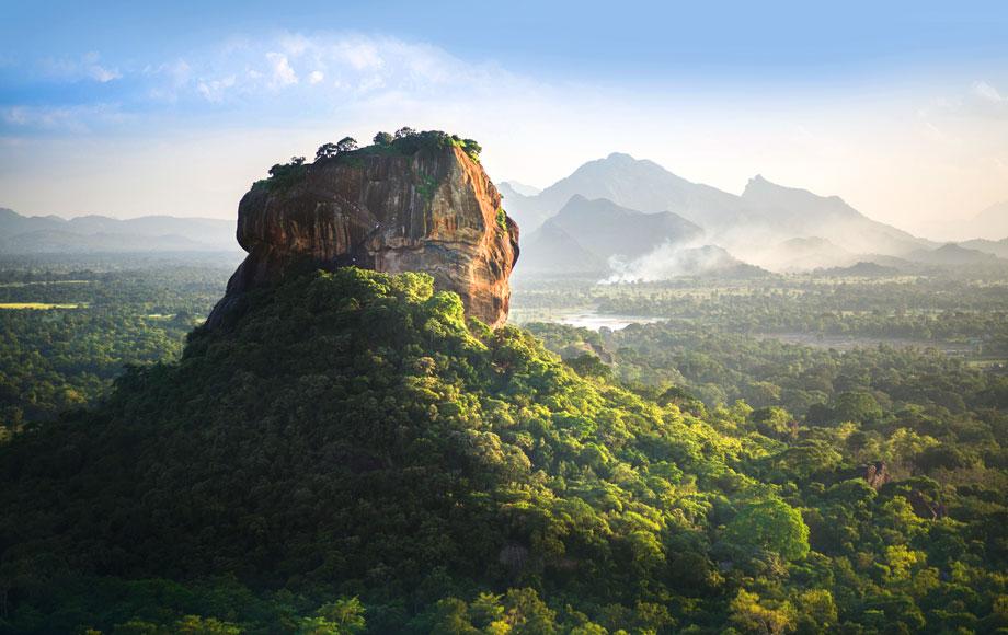 Magnificent rock peaks in Sri Lanka