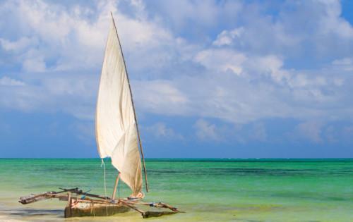 Sail boat in Zanzibar