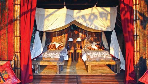 Luxury Greystoke lodge in the Mahale Mountains
